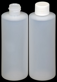 8 oz Natural Cylinder Round Plastic Bottle CASE OF 302- 24/410